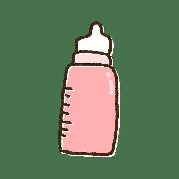 ピンクの哺乳瓶