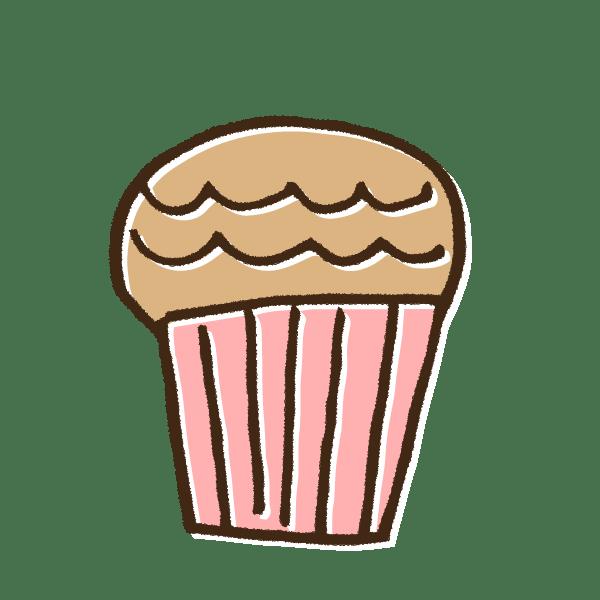 マフィンカップケーキのかわいい手書き商用無料イラスト素材