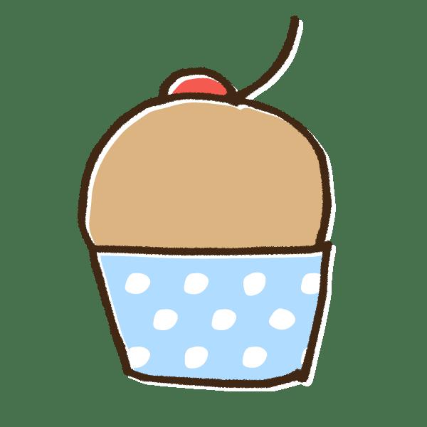 マフィンカップケーキのかわいい手書き商用無料イラスト素材 てがきちゃん