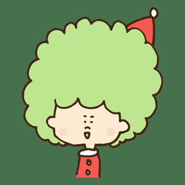 クリスマス衣装の男の子のフレームのかわいい手書き商用無料イラスト素材