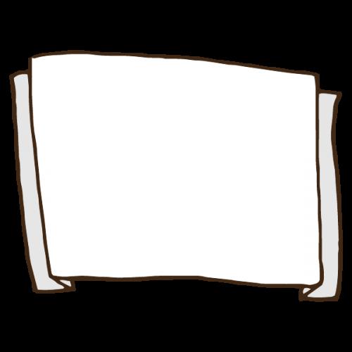 シンプルなフレームのかわいい手書き商用無料イラスト素材