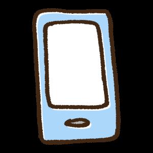 スマートフォンの手書きイラスト素材
