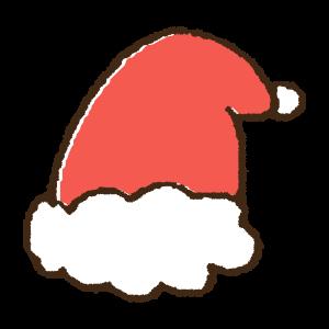 クリスマスの帽子の手書きイラスト素材