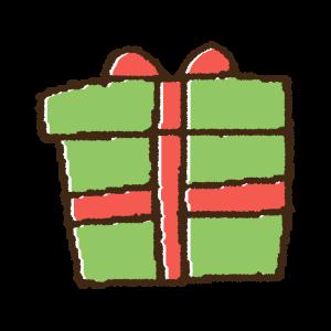 かわいいクリスマスプレゼントの手書きイラスト素材