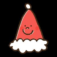 かわいいクリスマスの帽子の手書きイラスト素材