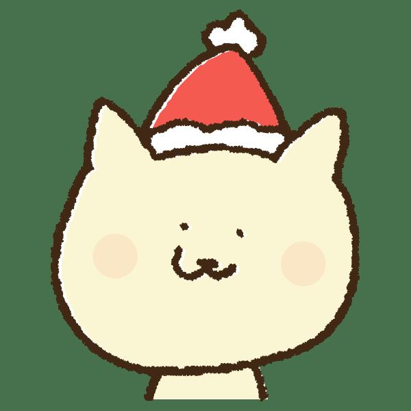 クリスマスコスチュームの猫の手書きイラスト素材