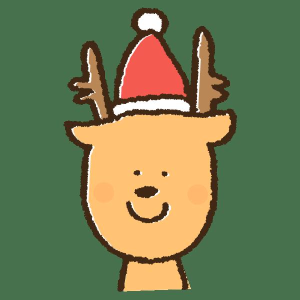 クリスマスコスチュームのトナカイの手書きイラスト素材