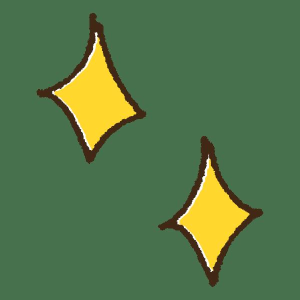 キラキラの手書きイラスト素材