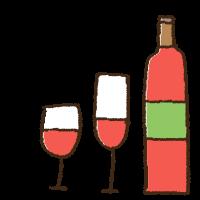 クリスマスのワインの手書きイラスト素材