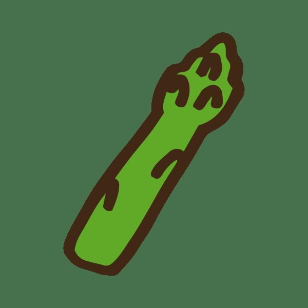 緑のカットしたアスパラガス