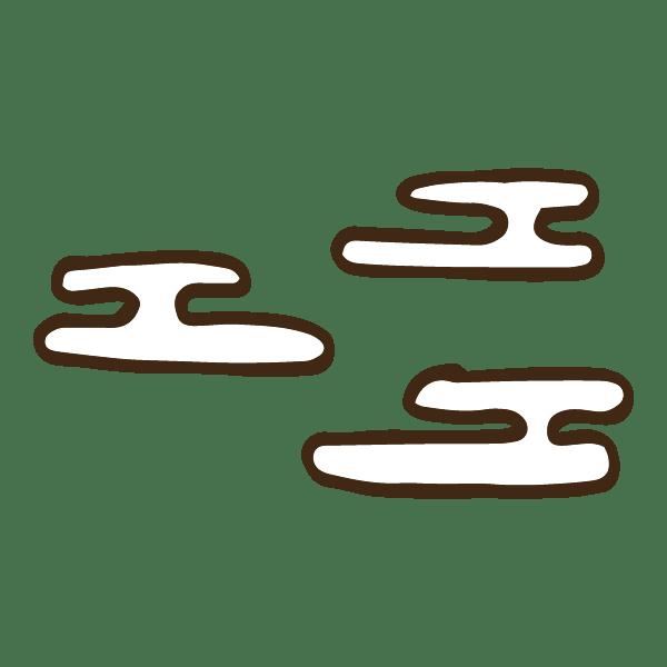 和風な模様の霞(かすみ)のかわいい手書き商用無料イラスト素材