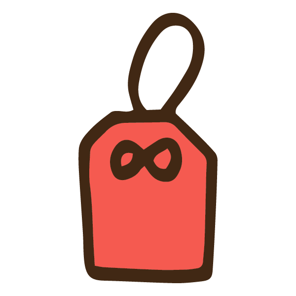シンプルな赤いお守りのかわいい手書き商用無料イラスト素材